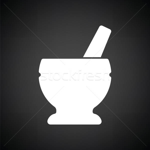 Mortar and pestle icon Stock photo © angelp