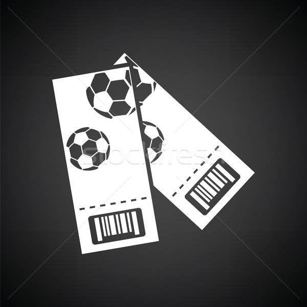 Two football tickets icon Stock photo © angelp