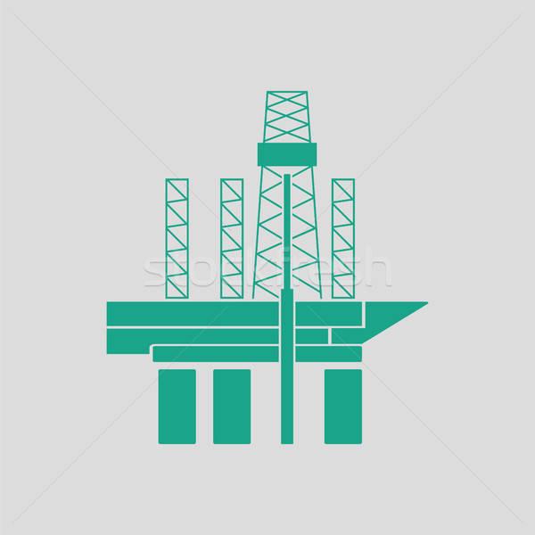 Oil sea platform icon Stock photo © angelp