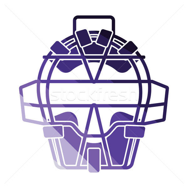 Baseball face protector icon Stock photo © angelp