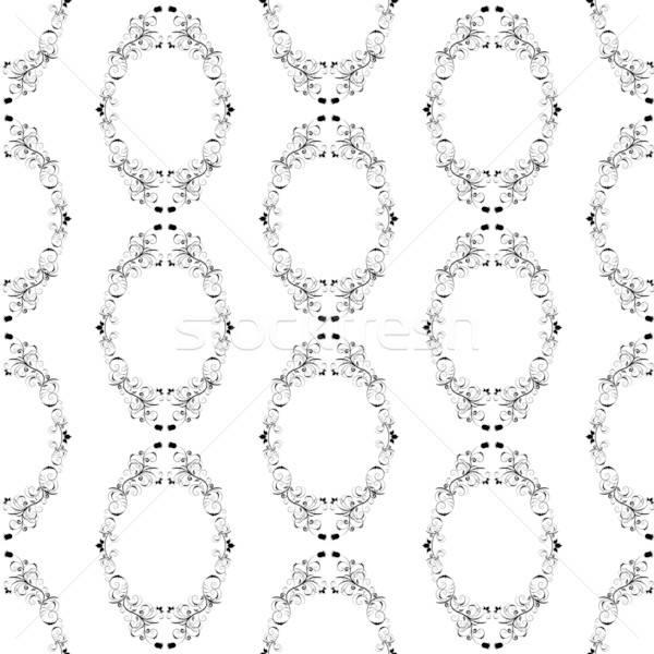 Foto stock: Sem · costura · abstrato · floral · projeto · fácil