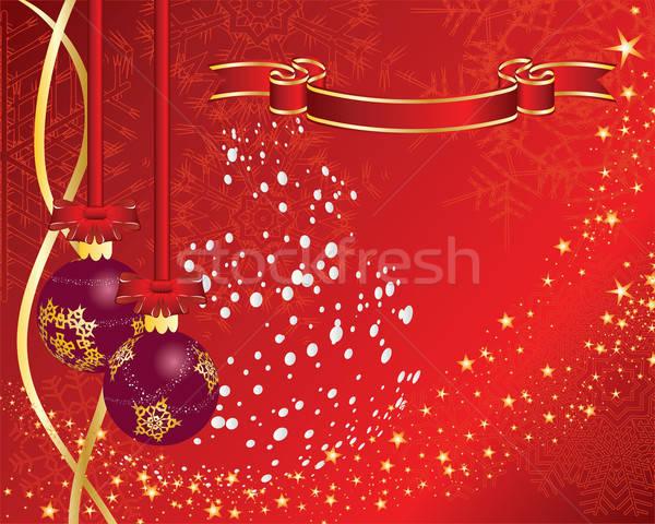 Stockfoto: Christmas · briefkaart · nieuwjaar · groet · brand · abstract