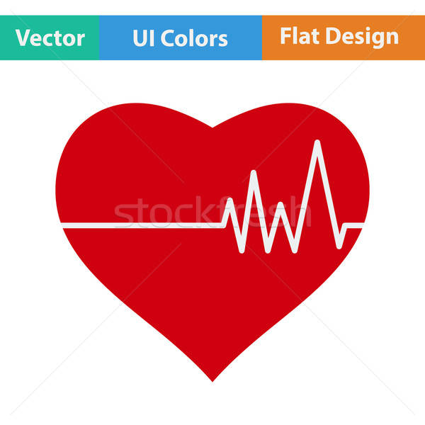 Design icône coeur cardio diagramme ui Photo stock © angelp