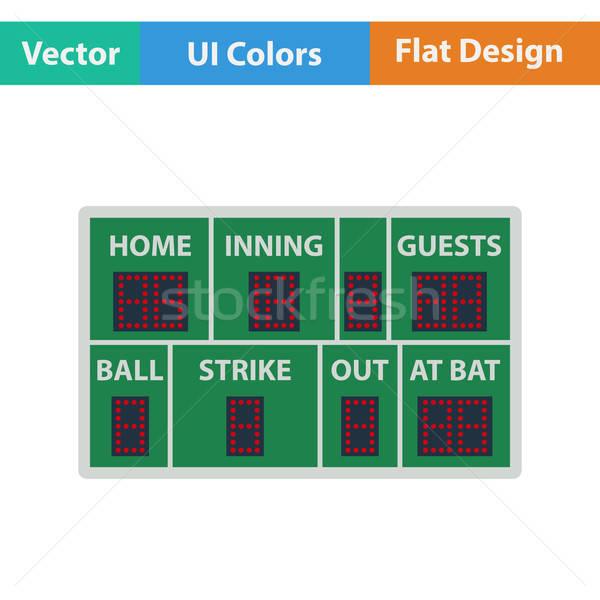 Baseball scorebord icon hemel sport licht Stockfoto © angelp