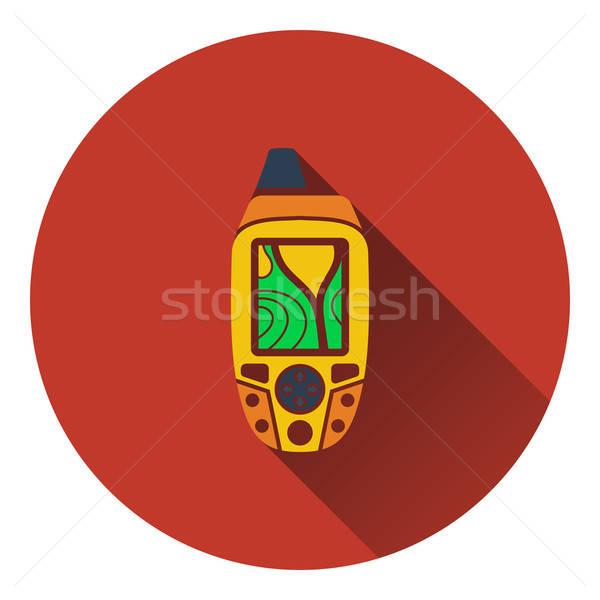 Draagbaar gps icon bos ontwerp Stockfoto © angelp