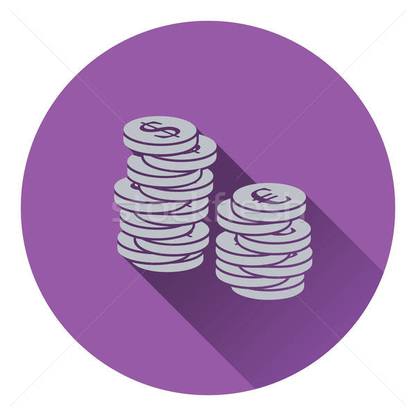 Icon of Stack of coins Stock photo © angelp