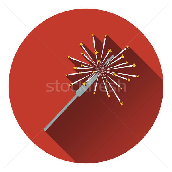 Strony brylant ikona szczęśliwy projektu star Zdjęcia stock © angelp