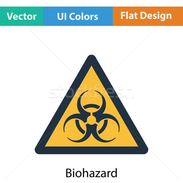 Bioveszély ikon szín terv orvosi laboratórium Stock fotó © angelp