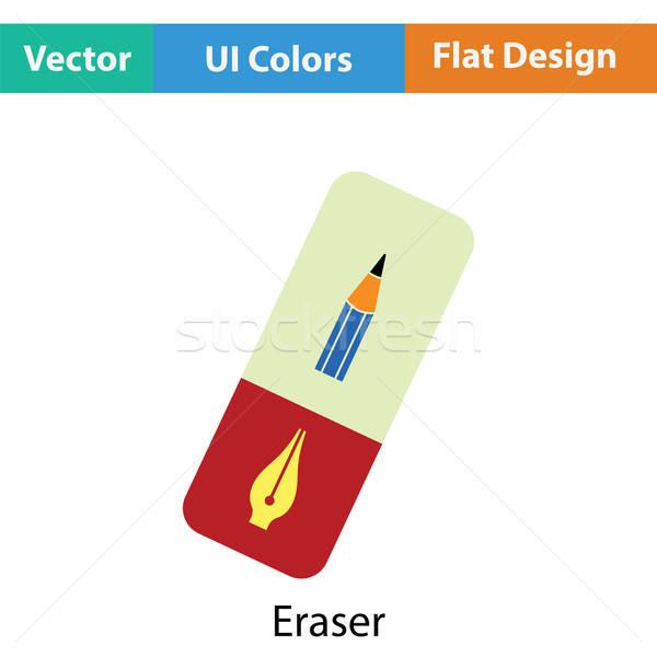 Zdjęcia stock: Gumki · ikona · kolor · projektu · papieru · farby