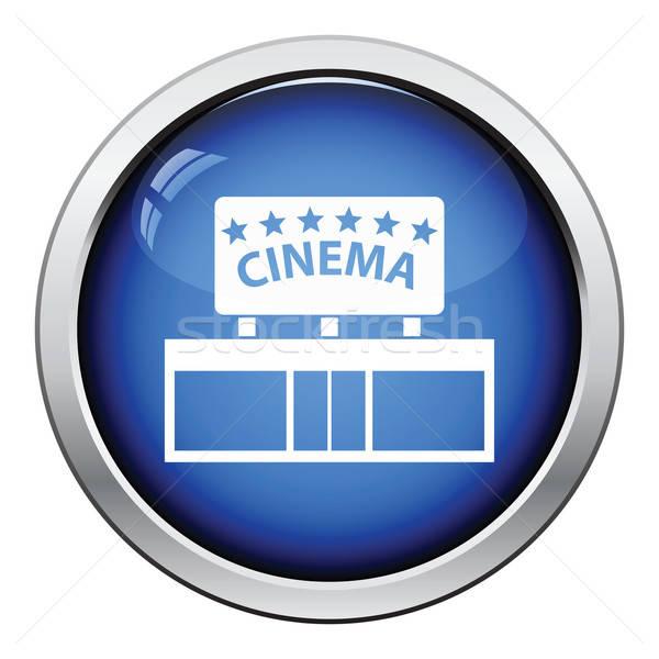кино вход икона кнопки дизайна Сток-фото © angelp