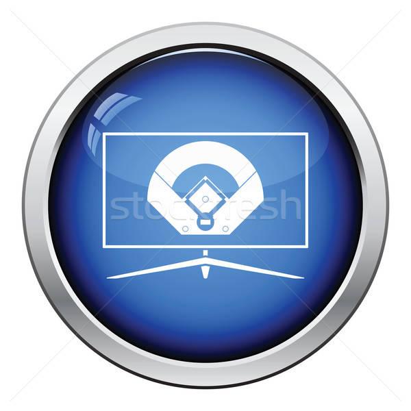 Beisebol tv tradução ícone botão Foto stock © angelp