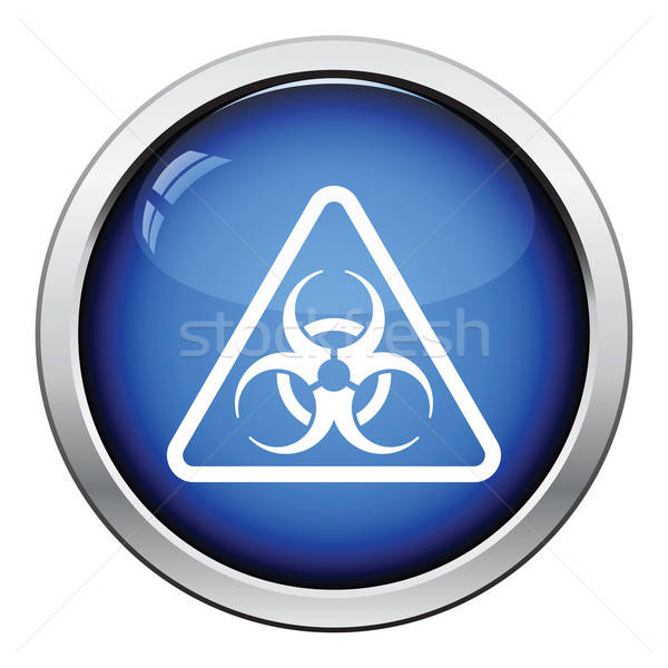 Icon of biohazard Stock photo © angelp