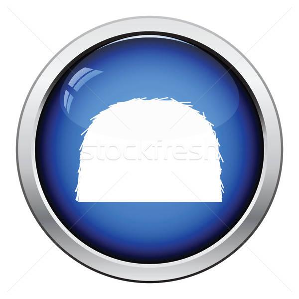 Feno ícone botão projeto Foto stock © angelp