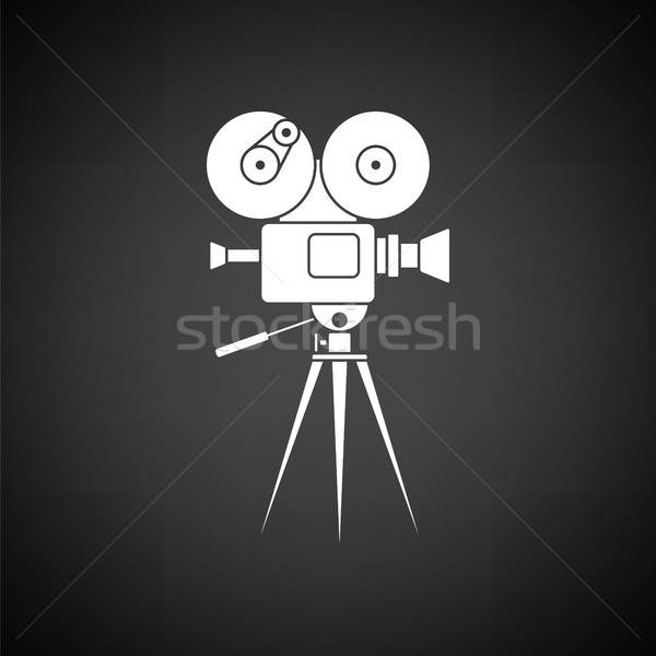 Retro cinema camera icon Stock photo © angelp
