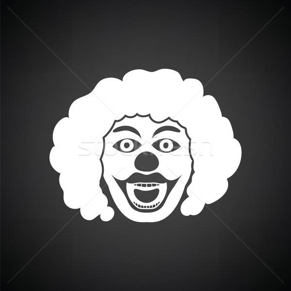 Stock photo: Party clown face icon