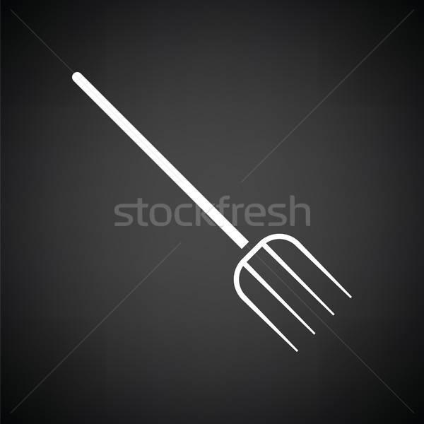 Pitchfork icon Stock photo © angelp