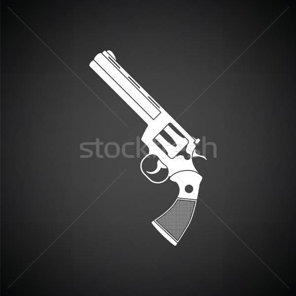 револьвер пушки икона черно белые черный Cowboy Сток-фото © angelp