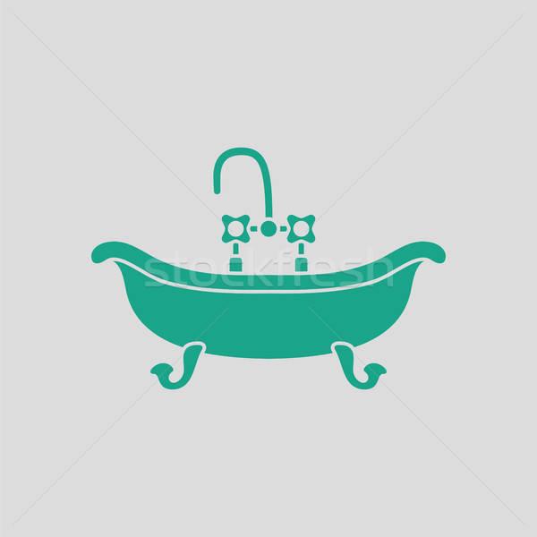 Wanna ikona szary zielone wody tle Zdjęcia stock © angelp