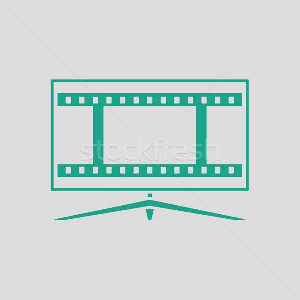 Cinema TV screen icon Stock photo © angelp
