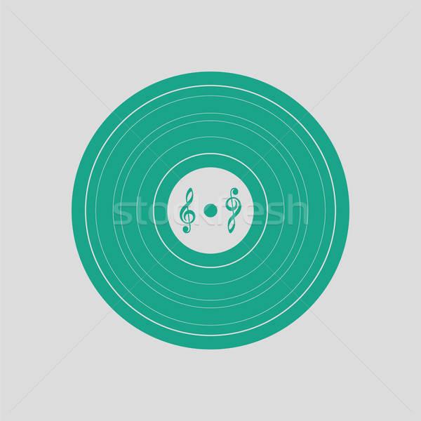 Record icône gris vert signe Photo stock © angelp