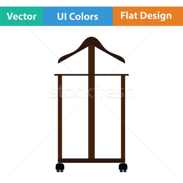 Percha stand icono casa madera moda Foto stock © angelp