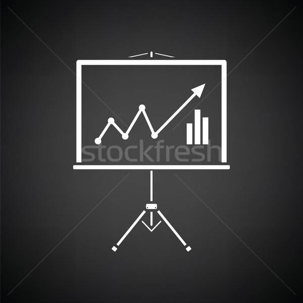 Analítica suporte ícone preto e branco abstrato assinar Foto stock © angelp