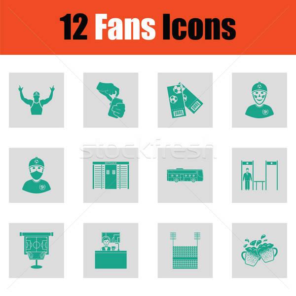 Fans icon set Stock photo © angelp