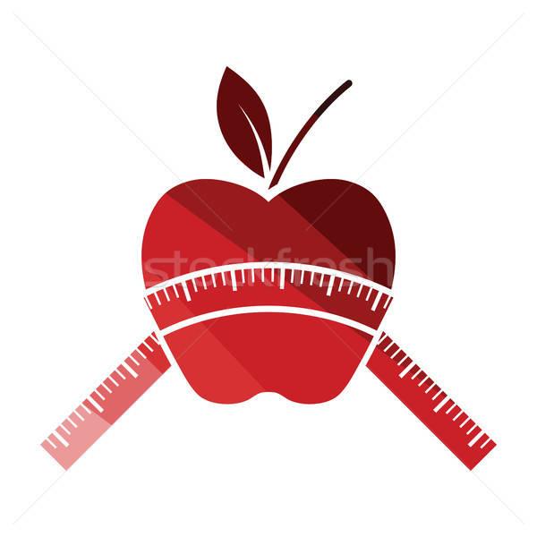 Mela nastro di misura icona colore design alimentare Foto d'archivio © angelp