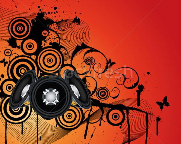 Musical grunge background Stock photo © angelp