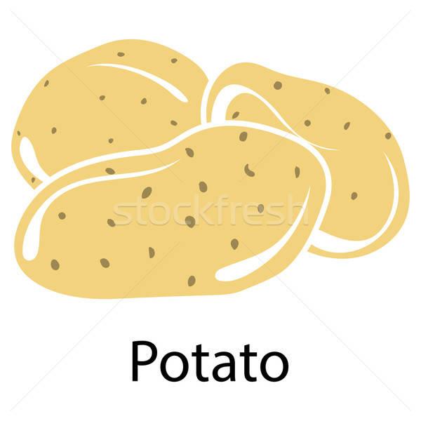 Potato icon Stock photo © angelp