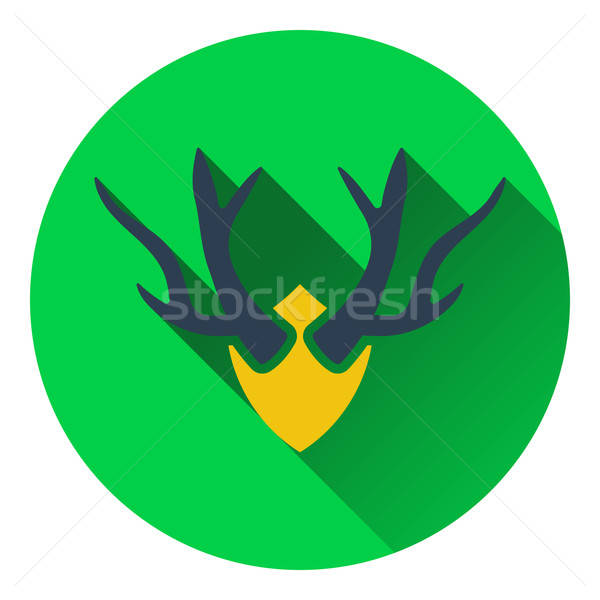 Icon of deer's antlers  Stock photo © angelp