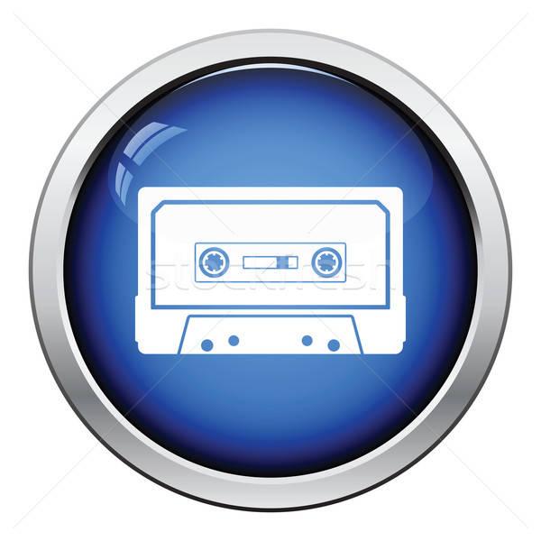 De audio cassette icono botón diseno Foto stock © angelp