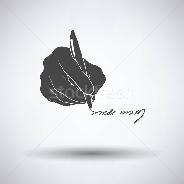 Signing hand icon Stock photo © angelp
