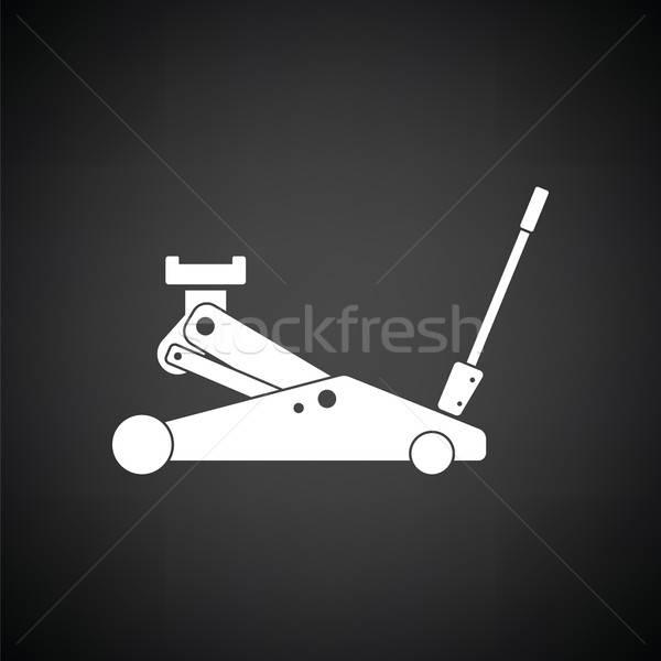 гидравлический икона черно белые фон металл знак Сток-фото © angelp