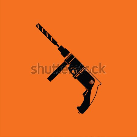 Russisch wapen geweer icon zwart wit achtergrond Stockfoto © angelp