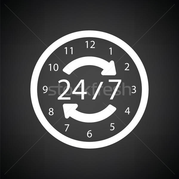 24 hour icon Stock photo © angelp