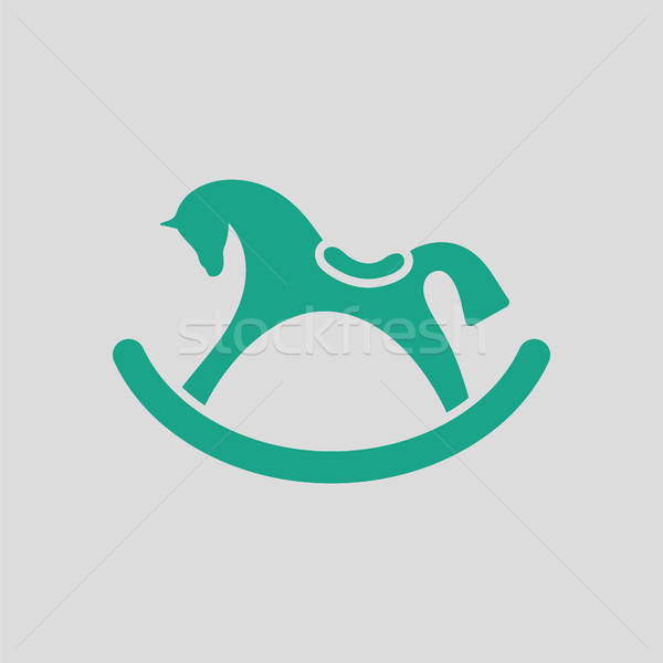 Rocking horse ico Stock photo © angelp