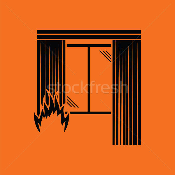Home fire icon Stock photo © angelp