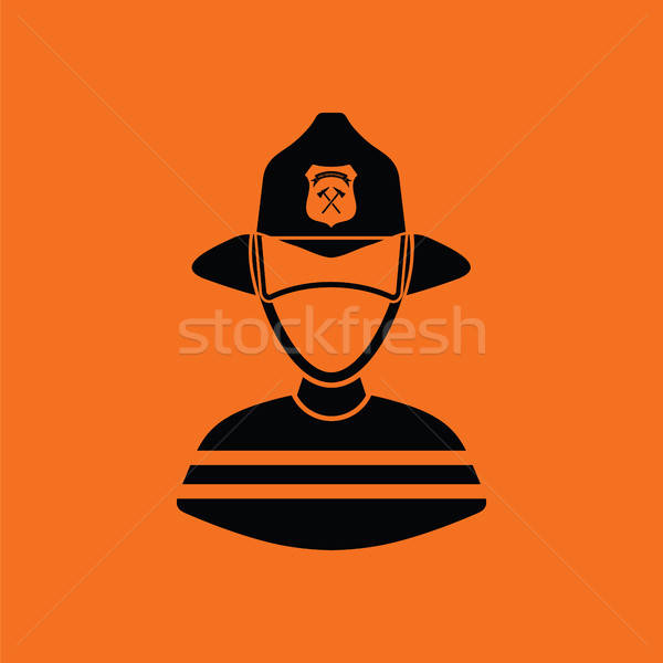 Fireman icon Stock photo © angelp