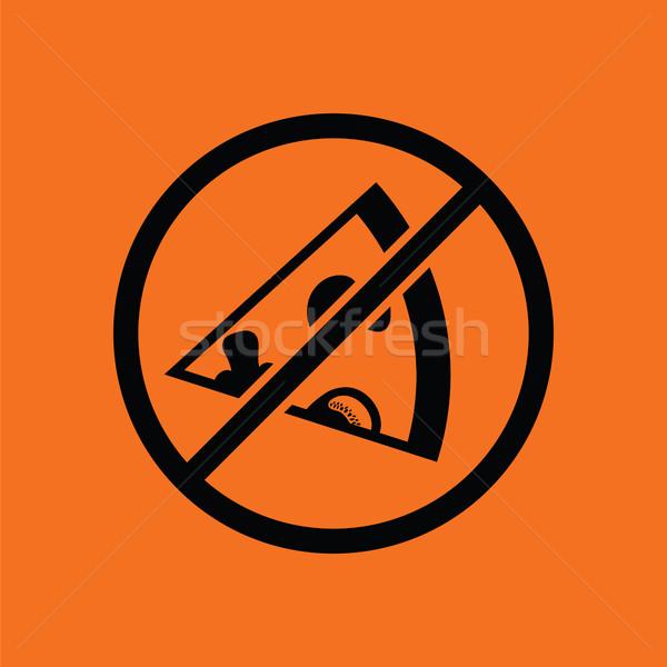 Prohibited pizza icon Stock photo © angelp