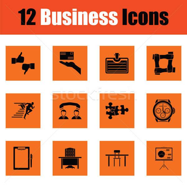 Business icon set Stock photo © angelp
