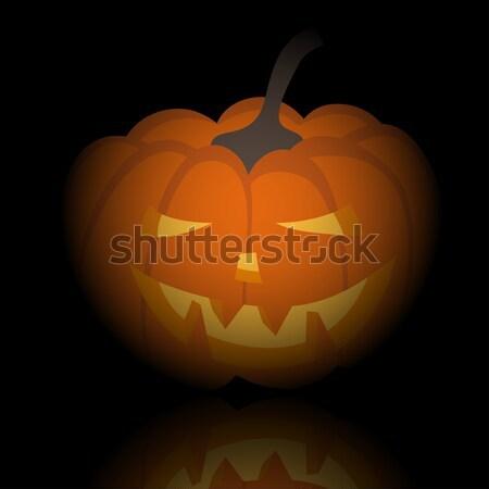 Feliz halloween cartão cara abstrato projeto Foto stock © angelp