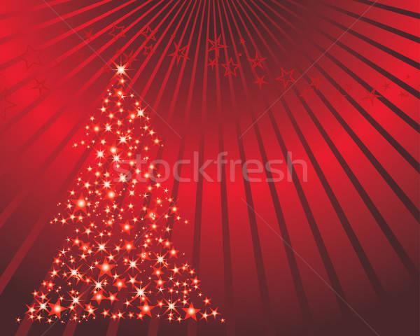 Stok fotoğraf: Noel · kartpostal · yılbaşı · sanat · kış · kırmızı