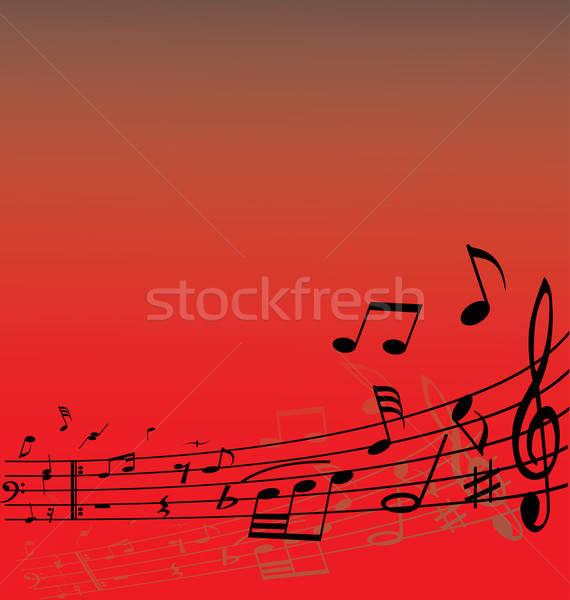 Jegyzetek vonalak absztrakt zene különböző terv Stock fotó © angelp