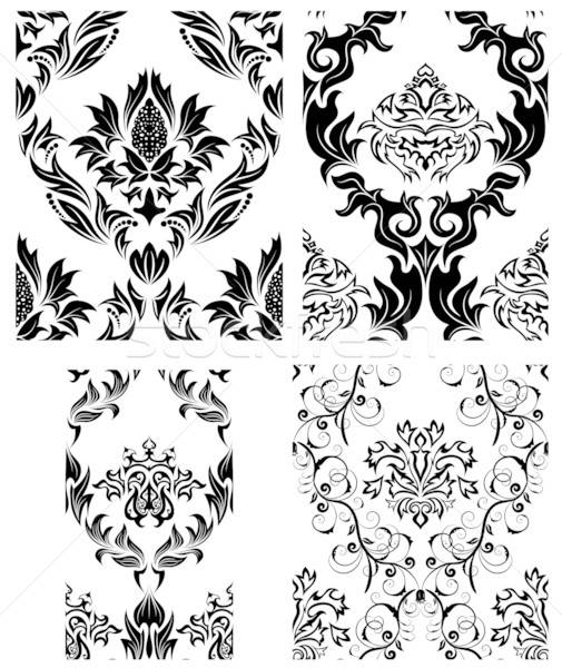 Naadloos damast patronen ingesteld vector gemakkelijk Stockfoto © angelp