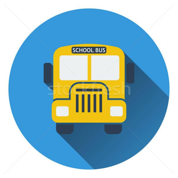 Terv ikon iskolabusz ui színek gyerekek Stock fotó © angelp