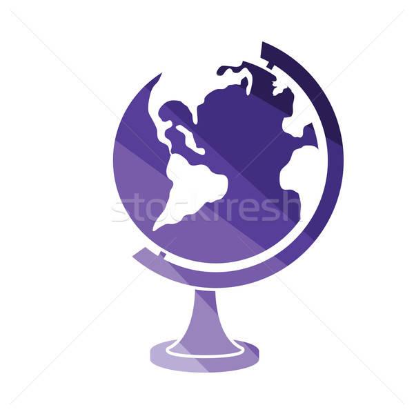 Globe icon Stock photo © angelp