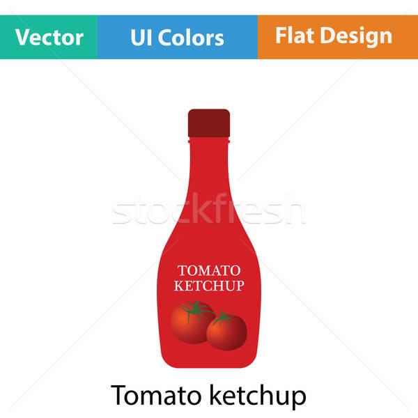 Pomodoro ketchup icona colore design mangiare Foto d'archivio © angelp