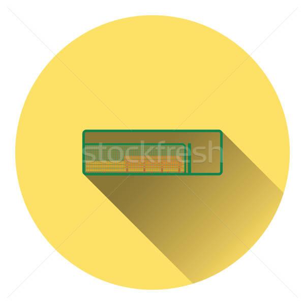 Baseball rezerwa ławce ikona kolor projektu Zdjęcia stock © angelp
