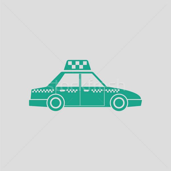 Taksi araba ikon gri yeşil iş Stok fotoğraf © angelp